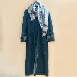 Genuine Leather/Shearling Maxi Coat